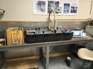 My lab setup at McMurdo's Crary Lab. Setup and test in a nice environment.